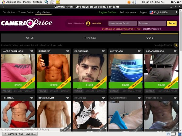 CameraPrive Gay Webcams Paypal Option