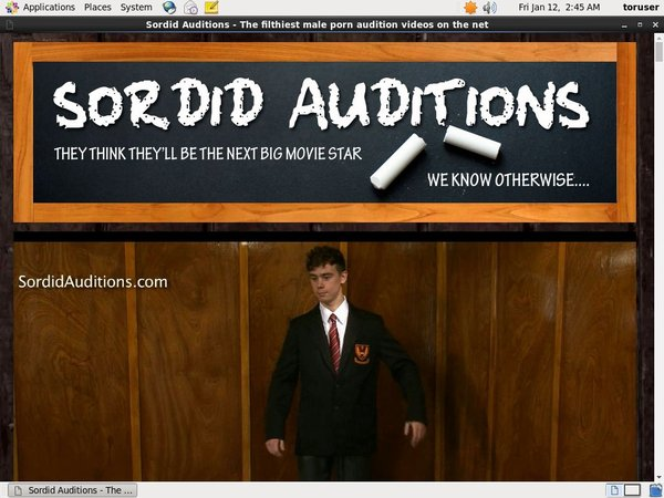 Sordid Auditions Password Login